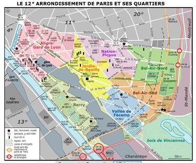 Plan 12ème arrondissement